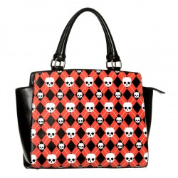 ANGUS HANDBAG BG7116 BLACK RED