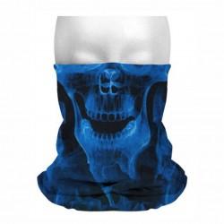 Collo sottocasco teschio maschera blu mf282