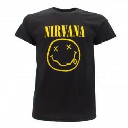 t-shirt ufficiale nirvana smile nera