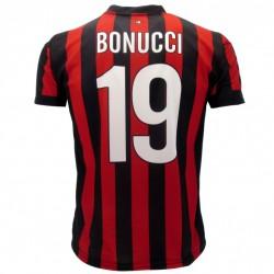 Milan maglia ufficiale Bonucci in poliestere rosso e nero