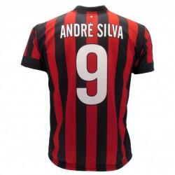 Milan maglia ufficiale Andre Silva in poliestere rosso e nero
