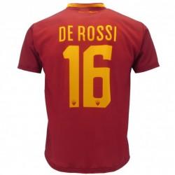 Roma maglia ufficiale De Rossi in poliestere giallo e rosso