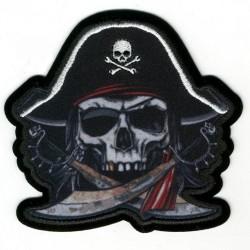 toppa teschio pirata con spade