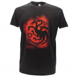 "Games of Thrones ""Fire blood Targaryen"" t-shirt ufficiale nera"