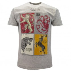 game of Thrones stemmi t-shirt ufficiale grigio chiaro