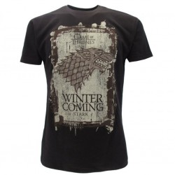 "Games of Thrones House Stark""winter is coming"" t-shirt ufficiale nera"