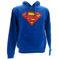 Superman felpa ufficiale blu adulto
