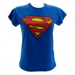 Superman t-shirt ufficiale blu donna