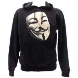 V per Vendetta felpa ufficiale nera