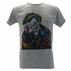 t-shirt ufficiale joker carte batman grigia
