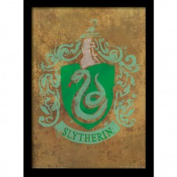 HARRY POTTER QUADRO CON CORNICE STEMMA SERPE VERDE SLYTHERIN
