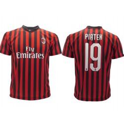 Milan maglia ufficiale Calhanoglu in poliestere rosso e nero