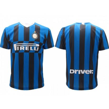 Inter maglia ufficiale neutra in poliestere blu e nero
