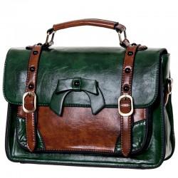 borsa-valigetta fiocco in pvc color verde