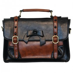 borsa-valigetta fiocco in pvc color rosso