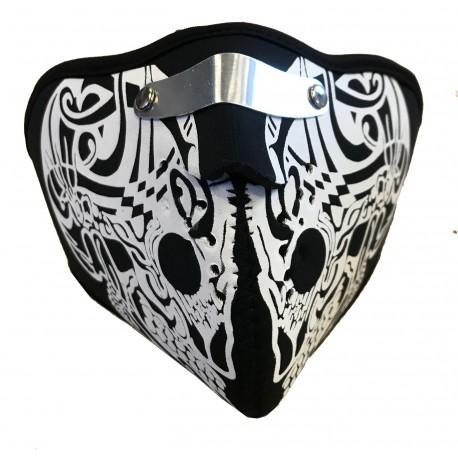maschera in neoprene ms019 con disegnati denti isolante traspirante per moto e tempo libero