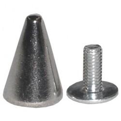 borchia 1,3 cm argento con vite
