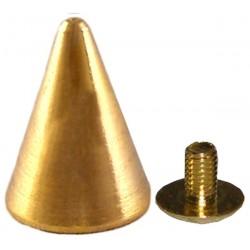 borchia 1,3 cm oro con vite