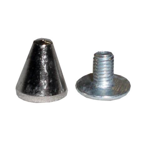 borchia mini 1,3 cm argento con vite