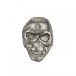 borchia teschio piccolo argento con vite