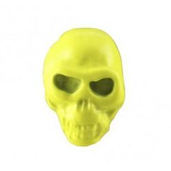 borchia teschio piccolo giallo con vite